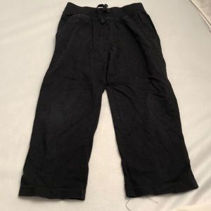 Gap black drawstring lightweight lounge pants